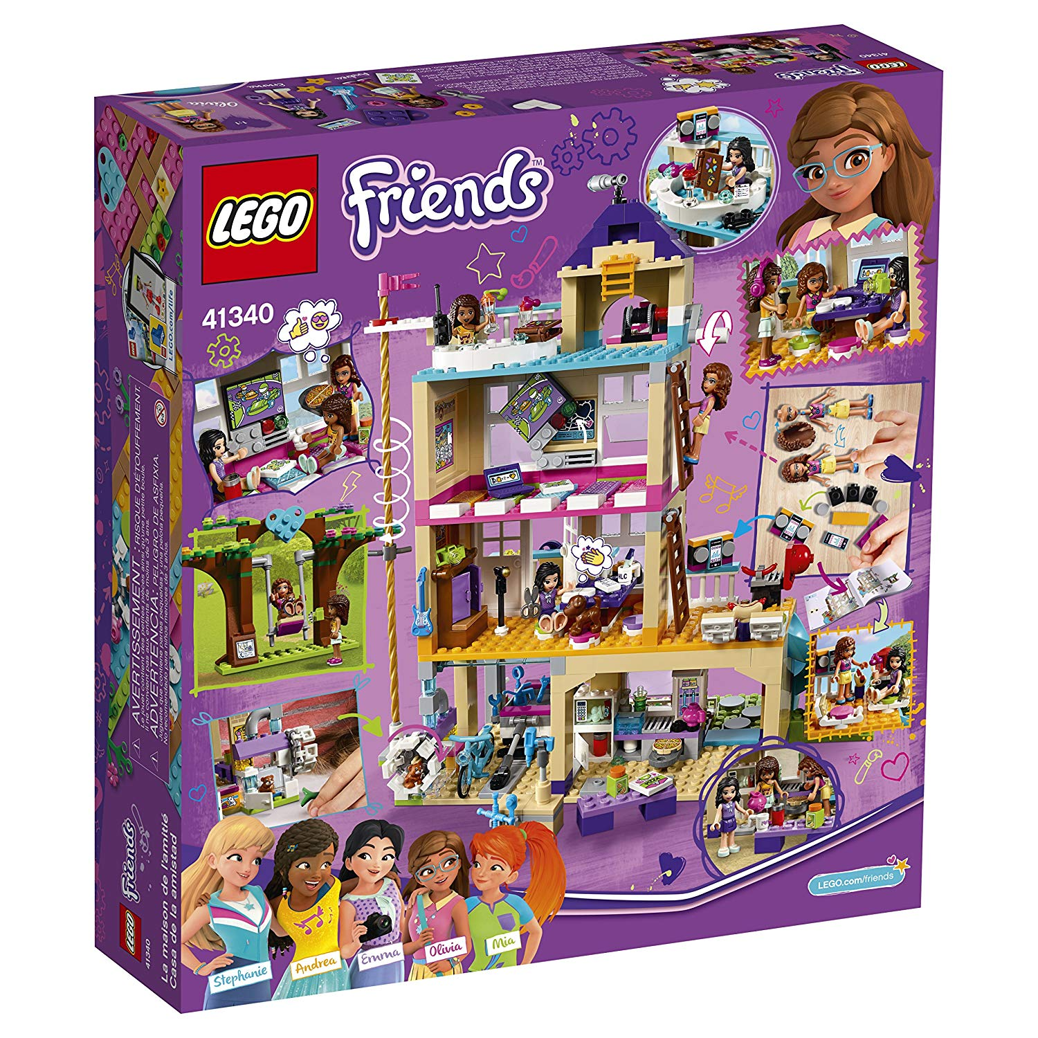 Lego Friends Christmas Sets.Lego Friends Friendship House 41340 Kids Building Set With Mini Dolls Popular Girl Toys For Christmas And Valentines Gifts 722 Piece
